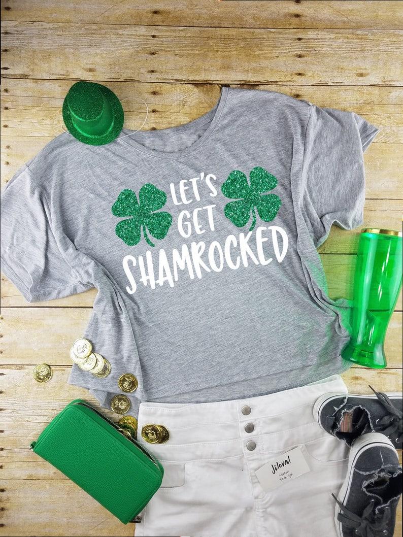 c1c1548a St. Patricks Day Shirt Crop Top-Let's Get Shamrocked-Crop | Etsy