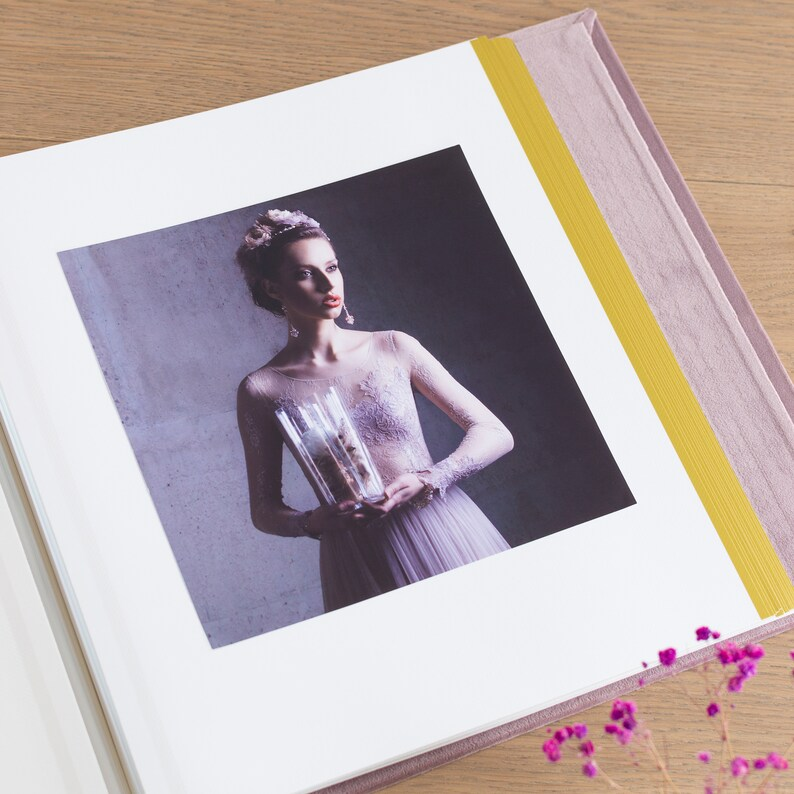 Anniversary Scrapbook Album Blush Pink Family Photo Album Velvet Self-adhesive Album Large Travel Photo Album