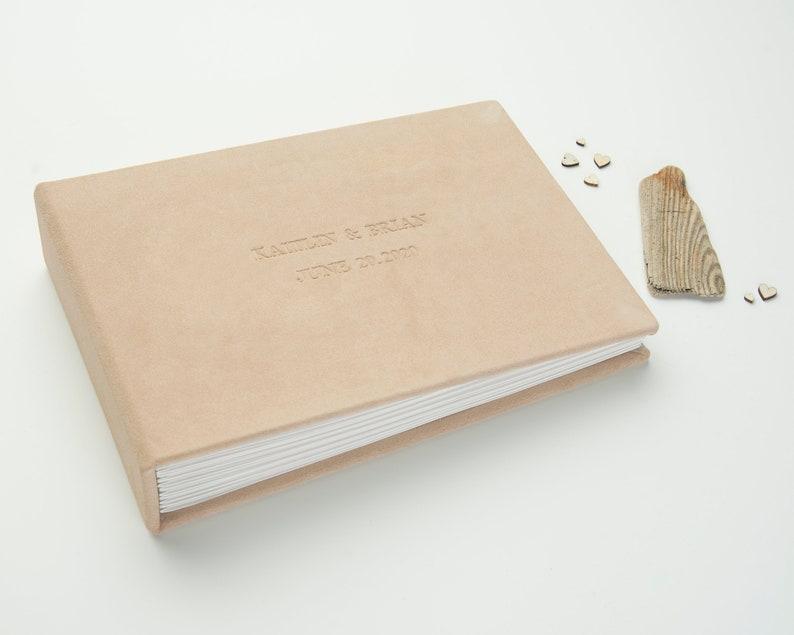 Instax Mini Guest Book Suede Leather Guestbook by Arcoalbum Custom Wedding Photo Album