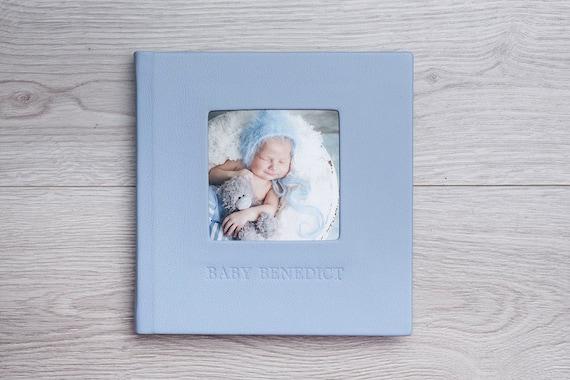 Baby Shower Guest Book Instax Photo Album by Arcoalbum Design No.12 Blue Baby Boy Gift