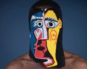 art mask, fashion mask, picasso mask, ritual mask, mask