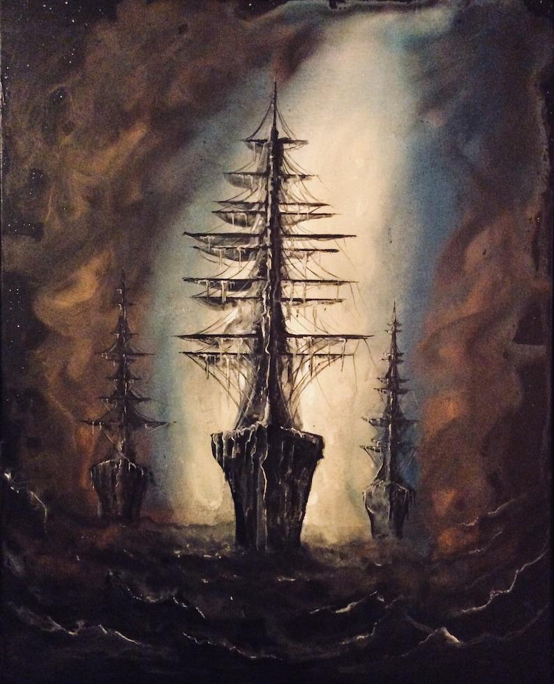 Ghosts of Nevermore  Original Canvas Painting  Three image 0