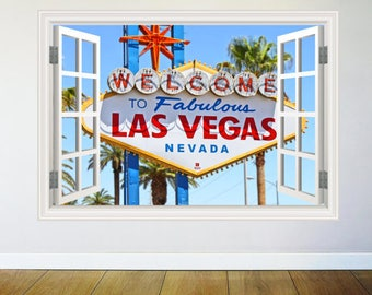 Welcome to Las Vegas Wall Tattoo Landmark