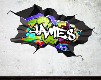Graffiti Wall Decal Etsy