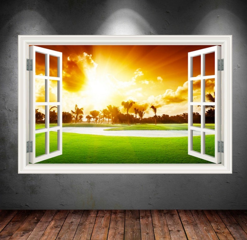 Window Frame of California Golf Course by MySticky