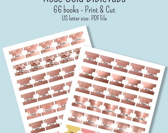 Bible Tabs Template Etsy