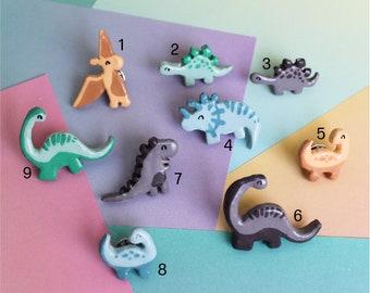 Dinosaur Pin Badge   Polymer Clay Pin Badge   Cute Pin Badges