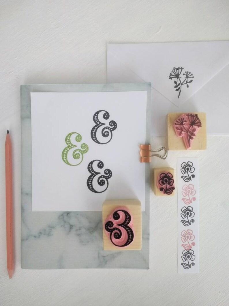 stationery gift set, floral stamps Wedding stationery stamp set