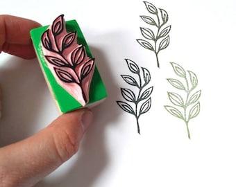 Leaf rubber stamp, botanical stamp,foilage stamp, branch with leaves stamp, wreath stamp, garden rubber stamp, wedding decor