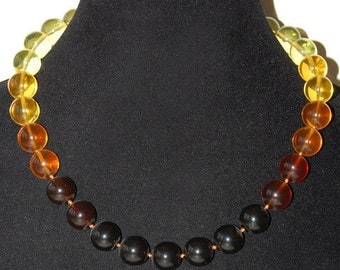 """Beads from natural amber """"Amber coloring"""""""