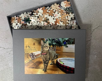 Personalised Puzzle Gift, Photo on Puzzle Boxed - Custom Own Image on A5, A4 or A3 Jigsaw all come with printed box