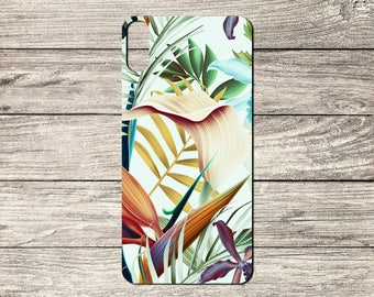 Tropical Flowers TPU Case For iPhone 5/5S 6/6S 7 8 & X (S729)