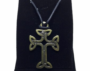 Celtic Cross Rope Necklace