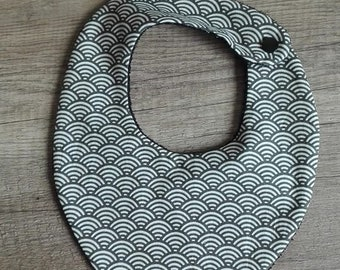 Black and white pattern 0-24 month bandana bib