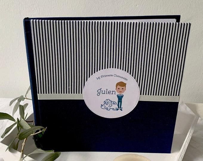 Featured listing image: Album de fotos | Libro de firmas Primera Comunión Azul