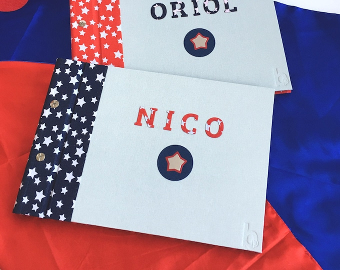 Album photos or handmade clippings of Super Hero for boys and girls. It can be customized. Ideal as DIY Baby Memory Book