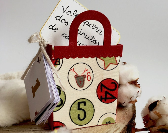 Calendar of Children's Advent Emotions for personalized Christmas. DIY Write surprise or wish for your little one on the Christmas card