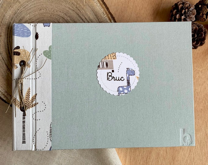 Custom craft album name baby style boho-chic for photos or as signature book. Instax. Guest book. Photo Album. Personalised