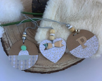 Handmade Christmas decorations natural and rustic tone Nordic style to customize. To hang on the Christmas tree or decorate reg