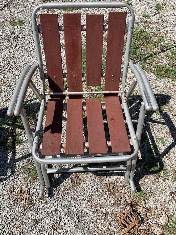 Aluminium Redwood Holz Schiefer Rocker Folding Schaukel Rasen Patio Stuhl