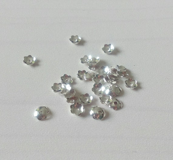 10x 925 Sterling Silver 4mm Flower Bead Caps Beading Jewelry Making Findings