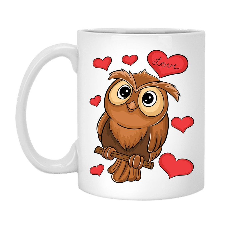 Owl Mug Valentines Day Mug Mug-3