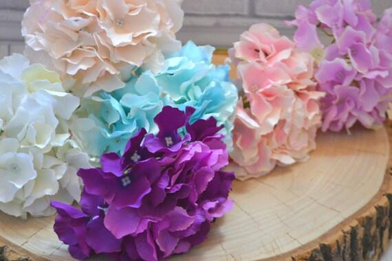 Artificial hydrangea silk flowers large flower heads flower etsy image 0 mightylinksfo