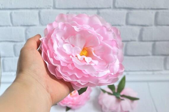 Tête de grande pivoine pivoine artificielle pour soie fleurs artificielles fleurs rose pivoine fleur lettres artisanat Floral de couronne de pivoine de le Couronne mariage