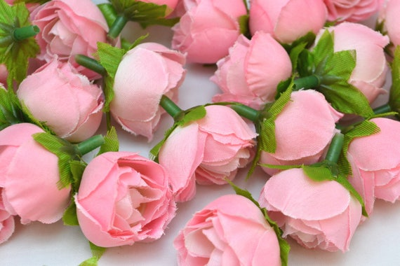 Pink flowers artificial roses fabric roses fake flowers small etsy image 0 mightylinksfo