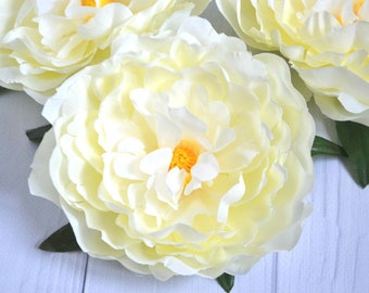 Ivory artificial flowers Artificial peony Large peony Flowers centerpieces Flower letters Floral supply Fall wedding Flower crown Homу decor
