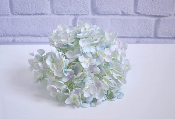 Artificial hydrangea sky blue flowers silk flowers large etsy image 0 mightylinksfo