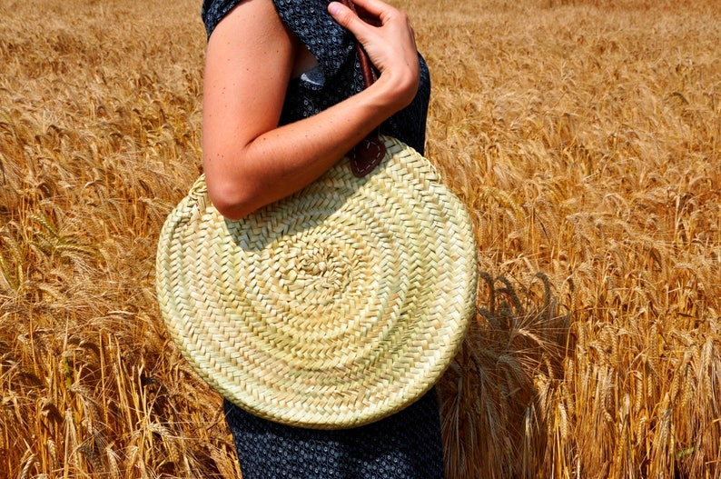 Round Handmade Straw bag   ref 8 Summer bag palm tree image 0