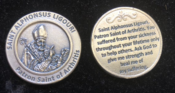 SAINT ST CHRISTOPHER TOKEN LARGE METAL POCKET PRAYER COIN MEDAL