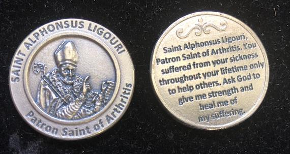 SAINT ST CHRISTOPHER TOKEN LARGE METAL POCKET PRAYER COIN MEDAL
