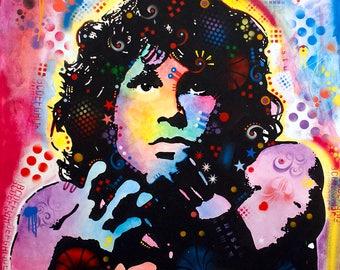 Framed Jim Morrison The Doors Print 11x17 Black Slim