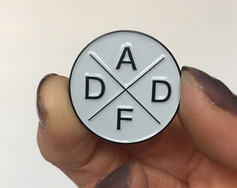 Dad AF Enamel Pin