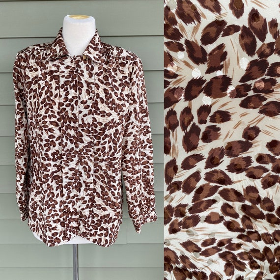 1980\u2019s Impressions of California High Neck Long Sleeved Blouse