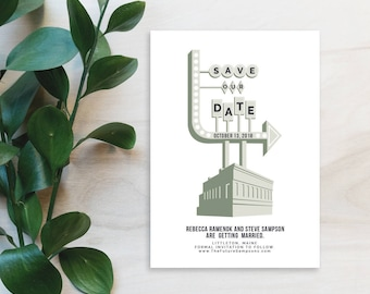 Industrial Warehouse Save the Date Printable