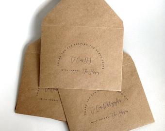 Printed Set of Wedding Vendor Tip/Gratuity Envelopes   Thank You For ...