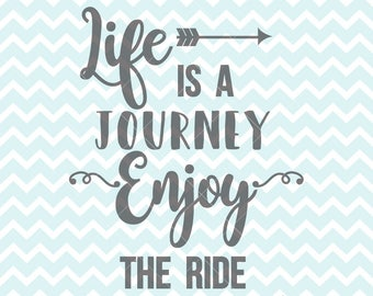 Inspirational Bike Print Life is a Journey Enjoy the Ride | Etsy