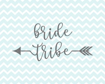 Bride Tribe SVG And PNG Wedding Svg DIY T Shirt Logo Htv Cut Files Design Bridal Party Shirts