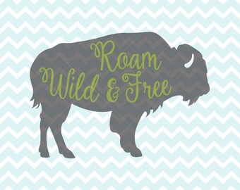 Buffalo Svg And Png Buffalo Clipart Bison Svg Animal Svg Etsy
