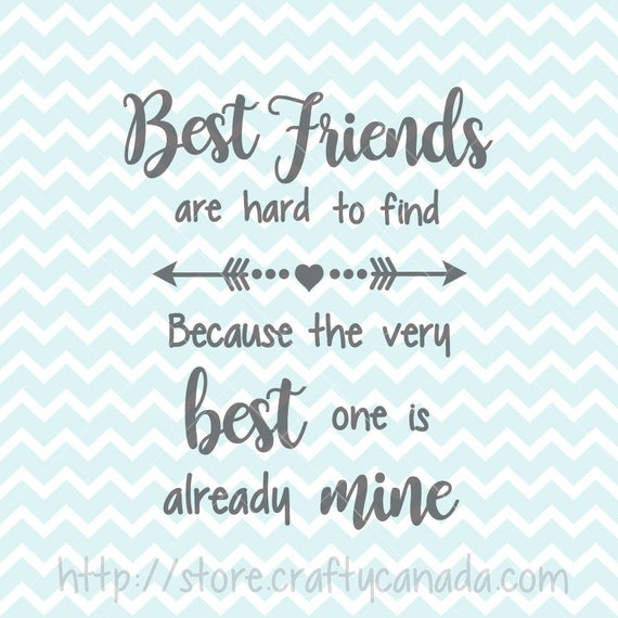 Best Friends SVG & PNG, Best Friends Quote, Best Friends Clipart,  Printable, SVG Files, Commercial Use Clipart