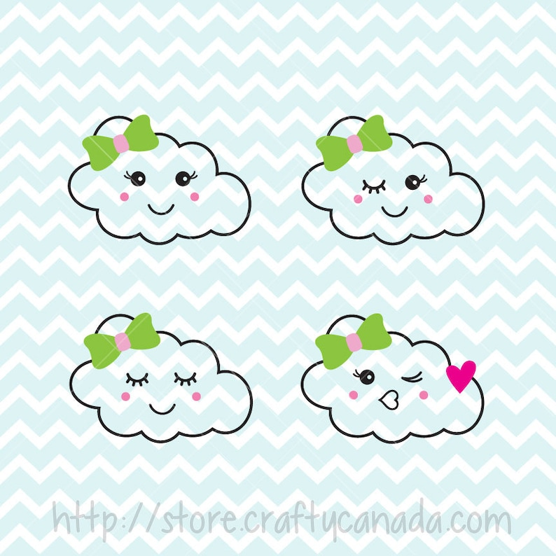 Sleepy Cloud Svg Png Smiley Cloud Svg And Png Cloud Svg Etsy
