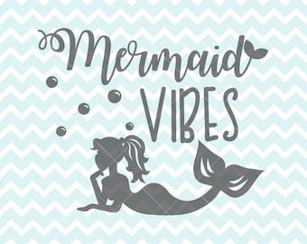 Mermaid Vibes SVG & PNG, Mermaid, Mermaid svg, Mermaid Clipart, svg Originals, Commercial Use, Mermaid Sign, Mermaid Print