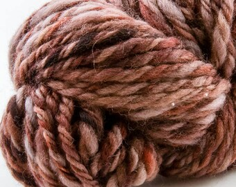 Redwood hand-spun, 3-ply, worsted weight, beautiful browns
