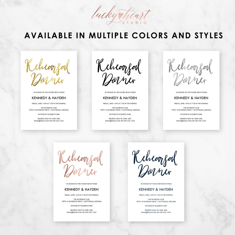 ROSE GOLD Wedding Rehearsal Dinner Printable Instant Download Editable DIY Rehearsal Invitation Template Welcome Party Digital RD04