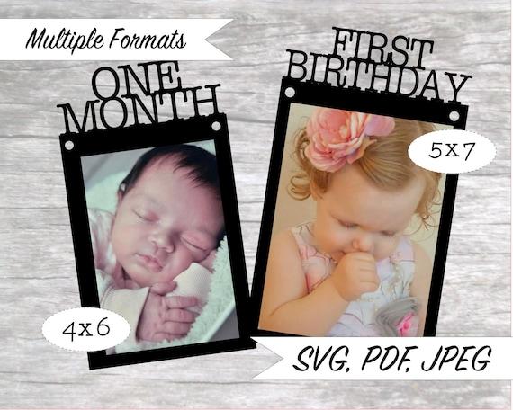 12 Months First Birthday Banner Type Svg Cuttable Etsy
