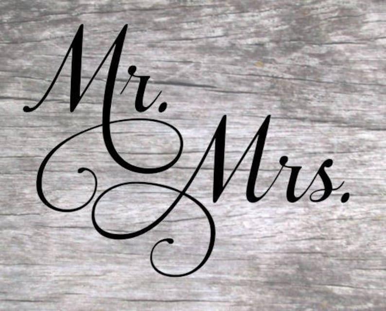Mr. and Mrs. SVG Design image 0
