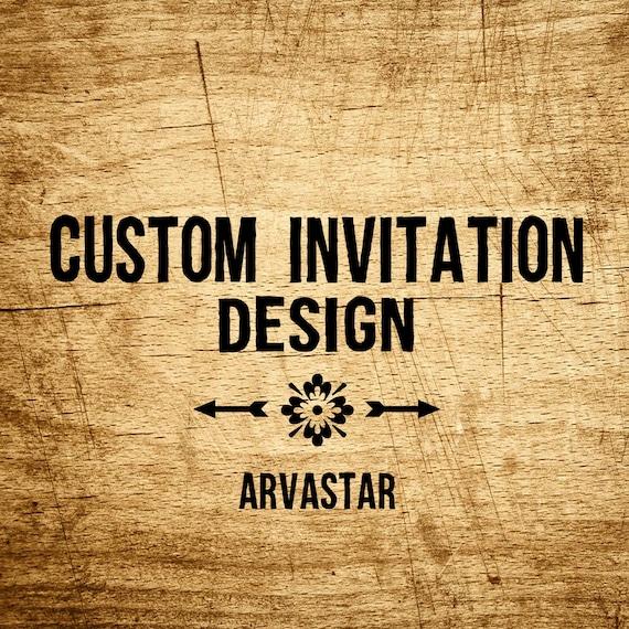Custom Invitation Design Digital File Custom Invite Theme Etsy